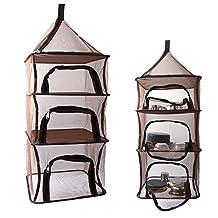 Bazaar Outdoor Fishing Hanging 4 Layer Storage Basket Hanging Drying Tableware Food Dry Net
