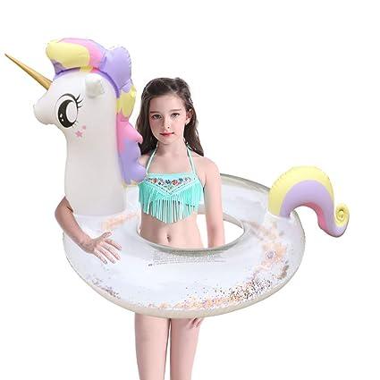 Amazon.com: WESJOY Flotadores de piscina inflables gigantes ...
