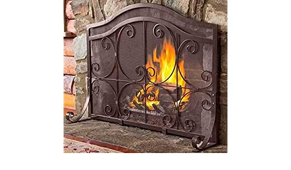 1b565f5fd19 Amazon.com  Large Fireplace Screen Gate-Bronze 2 Panel Steel Beauty in Any  Season-Maximum Coverage and Protection  Home   Kitchen
