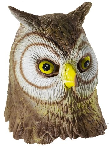 Forum Novelties Deluxe Unisex Latex Owl Mask, Multi Colored, One (Owl Costume For Adults)
