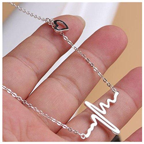 Bestpriceam Necklace Heartbeat Rhythm Shaped