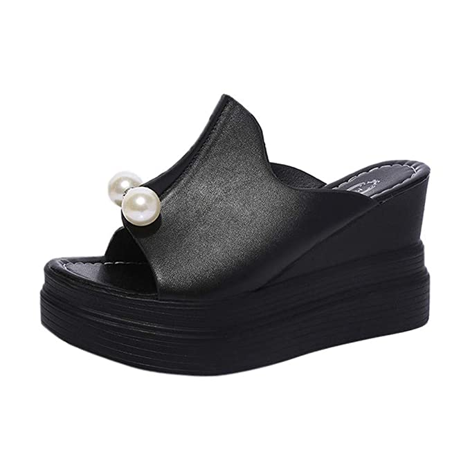 dd0e23ef15a20 Amazon.com: MILIMIEYIK Flat Sandals for Women Size 7, Women's Wedge ...