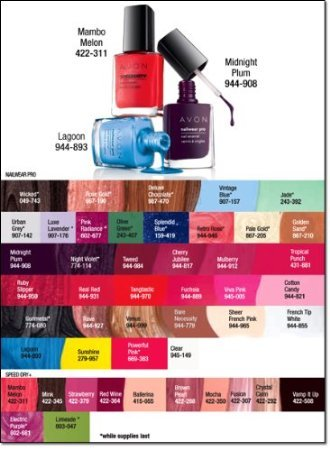 - Avon Nailwear Pro+ Nail Enamel Tempted
