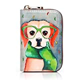 APHISON RFID Credit Card Holder Wallets for Women Leather Cartoon Patterns Zipper Card Case for...