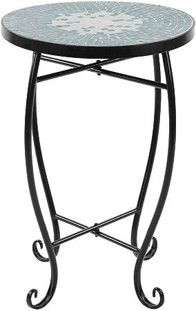 Tavolo Da Giardino Tondo Ferro.Gototo Tavolo Mosaico Rotondo Tavolo Ceramica Giardino Piante