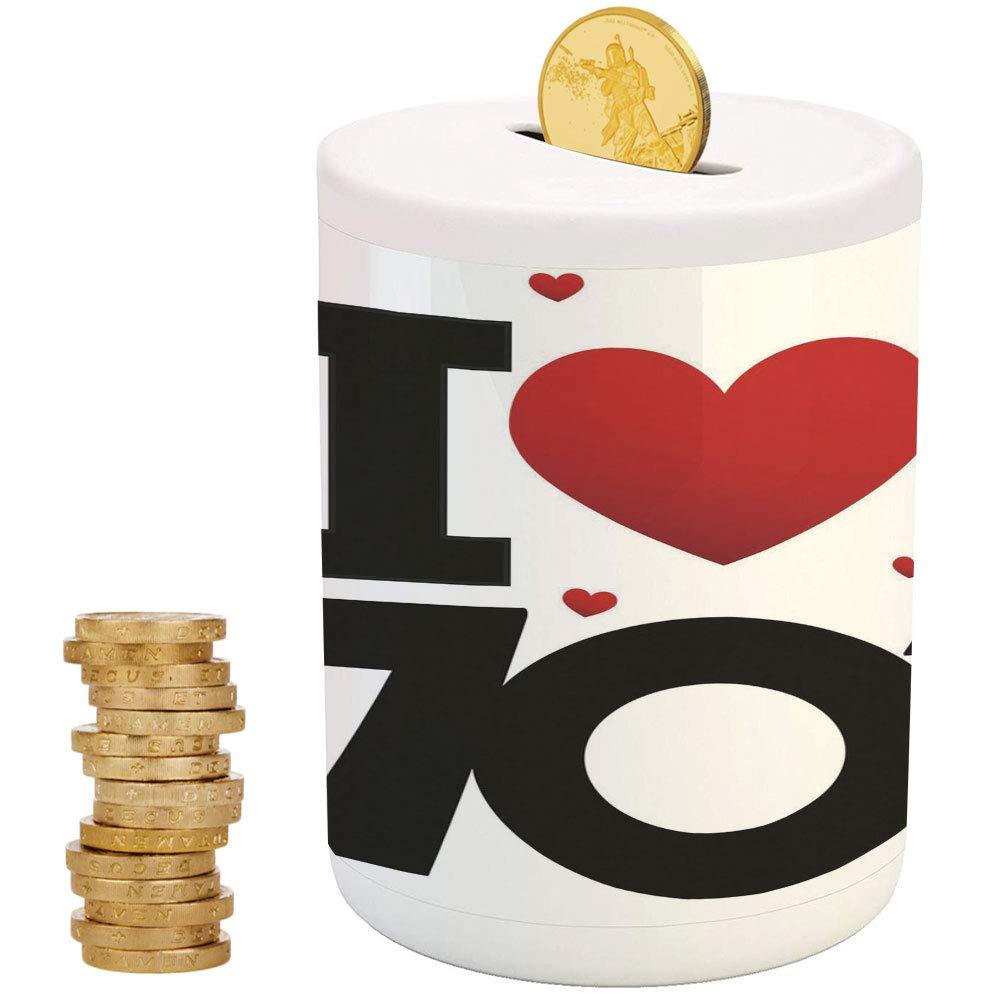 70年代のパーティーデコレーション、お金の貯金箱 子供用 パーティー装飾 女の子 子供 大人 誕生日プレゼント カップルのシルエット ナイトクラブ エネルギー クラシック 3.6