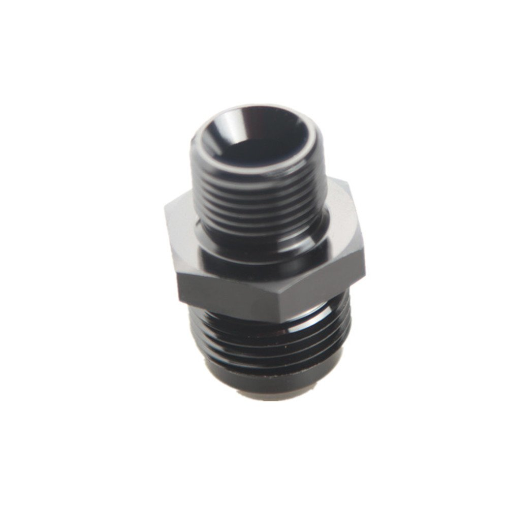 4AN AN-4 To M10 x 1.25 mm Metric Straight Flare Male Fitting Adapter Black