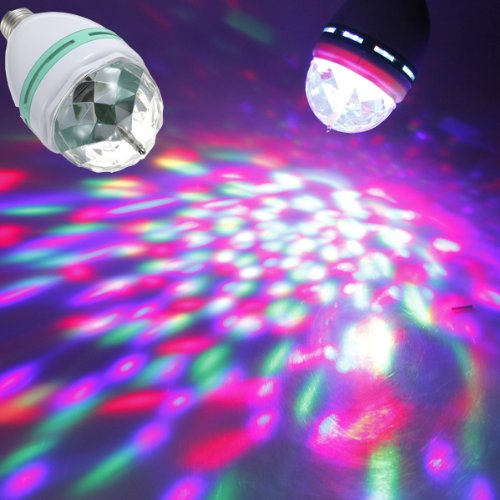 Colorful Rotating Rgb 3 Led Spot Light Bulb Lamp in US - 9