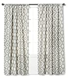 Farrah Southwest Gray Curtain Panel -Threshold