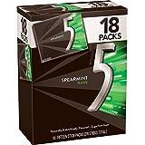 5 Gum Spearmint Rain Sugarfree Gum, Bulk 18 packs