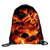 3D Print Drawstring Backpack Lightweight Travel Backpack Picture Of Fire