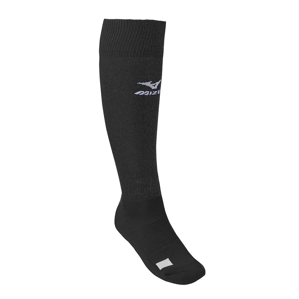 Black Youth Mizuno Performance Athletic Socks (All Sports: Baseball, Softball, Football, Soccer, Volleyball, Lacrosse)