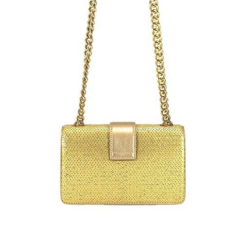 Accessori Da Donna Pinko Love Bag Mini Bag Paillettes In Pelle Oro Primavera-estate 2018