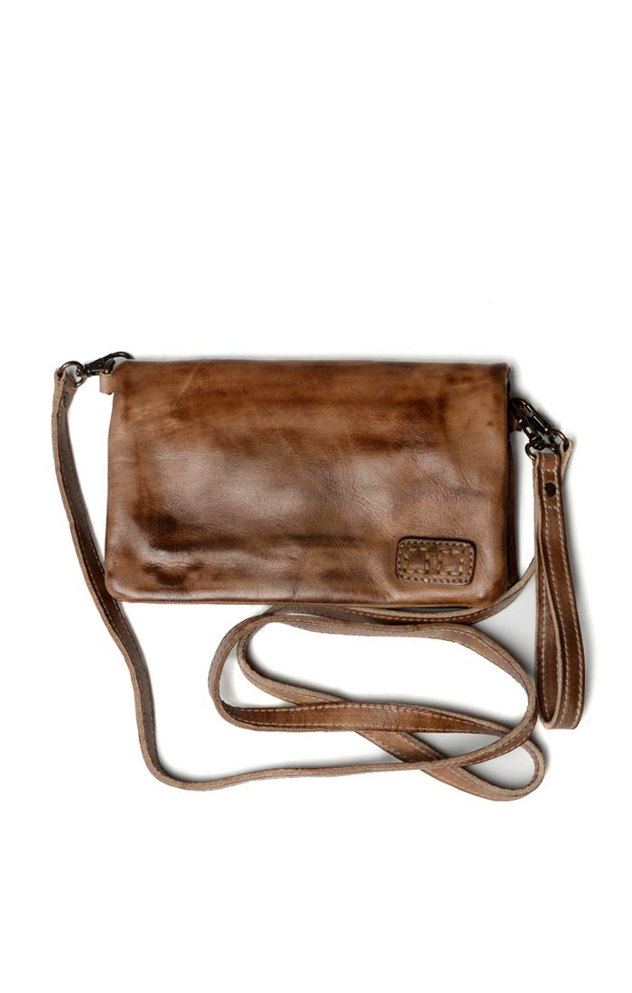 Bed|Stu Women's Cadence Leather Wallet, Crossbody or Clutch (Tan Rustic)