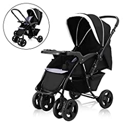 Description: Ideal convenient stroller for your babies! Constructed by durable metal frame and wearable non-toxic and breathable Oxford cover which can well-protect your babies from rains or harmful rays. This stroller features solidity and s...