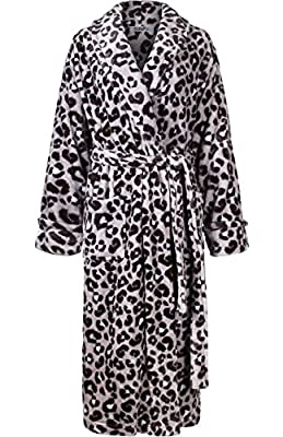 2LUV Women's Ultra Soft Plush Fleece Microfiber Bath Robe with Two deep front pockets