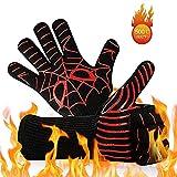 URBAMSEASONS BBQ Grill Gloves, 932°F Heat Resistant Grilling Gloves, Food Grade Kitchen Oven
