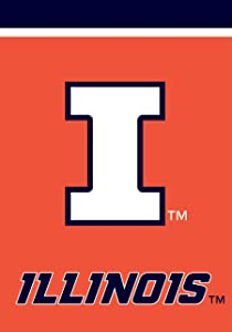 "Briarwood Lane Illinois Fighting Illini Garden Flag NCAA Licensed 12.5"" x 18"""
