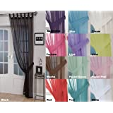 "John Aird Woven Voile Tab Top Curtain Panel - Free Tieback Included (Black, 60"" Wide x 90"" Drop)"