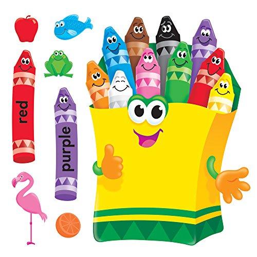 Bulletin Set - TREND enterprises, Inc. T-8076 Colorful Crayons Bulletin Board Set