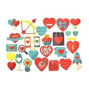 Instax Scrapbook card cut outs - Hearts