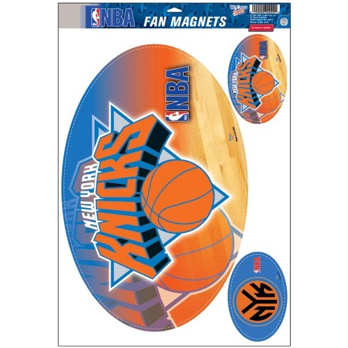 New York Knicks Official NBA 11 inch x 17 inch Car Magnet 3-Pack Set by Wincraft by WinCraft