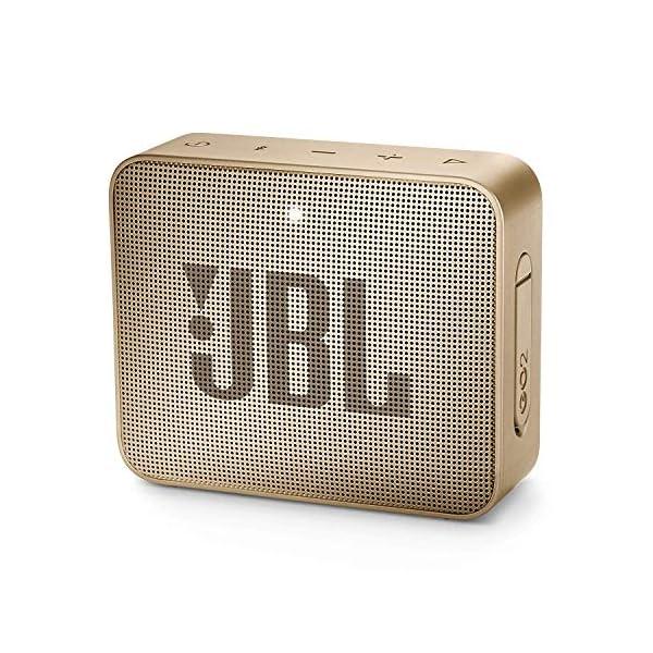 JBL Go 2 - Mini enceinte Bluetooth Portable - Étanche pour Piscine & Plage Ipx7 - Autonomie 5hrs - Qualité Audio JBL - Champagne 1