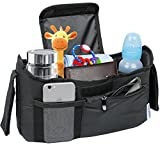 Deluxe Stroller Organizer Universal Fit for all Strollers Multiple Pockets Zipper and Phone Pocket Deep Insulated Cup Holders
