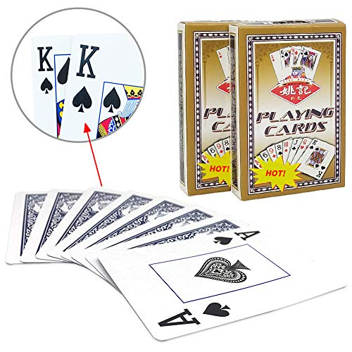 Fanwer Playing Card,Poker Jumbo Index,Playing Cards Large Print Suitable for The Elderly to Play(2 pcs) ()