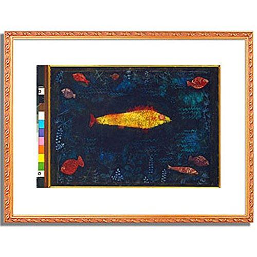 パウルクレー 「金色の魚 The Golden Fish. 1925 」 インテリア アート 絵画 壁掛け アートポスター フレーム:装飾(金) サイズ:L (412mm X 527mm) B00PB8MRFW 3.L (412mm X 527mm)|4.フレーム:装飾(金) 4.フレーム:装飾(金) 3.L (412mm X 527mm)