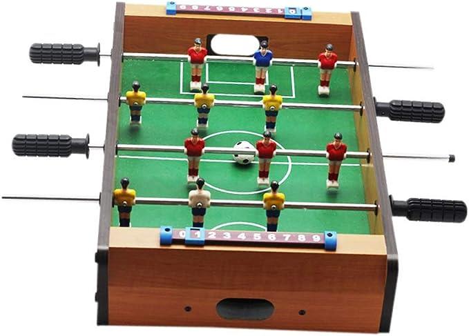 Pkjskh Mini Juego de fútbol de Mesa de 20 Pulgadas 4 Filas Juego ...