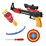 Kids Archery Bow Arrow Toy Set Target Game Plastic Funny Children Outdoor Playing