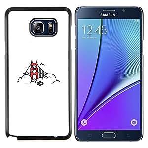 YiPhone /// Prima de resorte delgada de la cubierta del caso de Shell Armor - Puente de San Francisco - Samsung Galaxy Note 5 5th N9200
