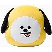 PATPAT® BTS BT21 Cute Cartoon Plush Doll TATA Cooky CHIMMY SHOOKY MANG Van Toys Bolster Throw Pillow Cushion Gifts for Children(CHIMMY)