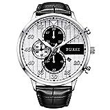 BUREI Mens Watch Dress Chronograph Wristwatch Quartz Analog - Best Reviews Guide