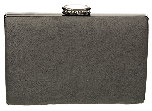 Velvet Box Elegant Party Womens Ladies Clutch SWANKYSWANS Wedding Grey Surrey Bridal Bags Suede Prom w5UFqFzx