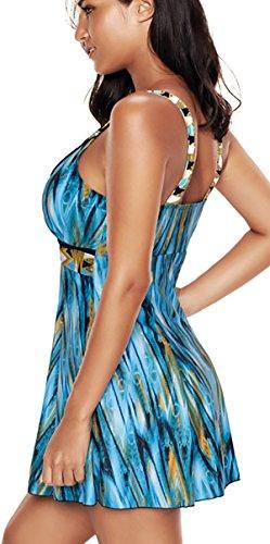 Costume Stile Dimagrante da Blu Bagno Donna Costume Bettydom Gonna Modellante Intero awP885q