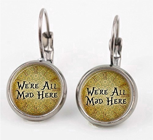 We're All Mad Here Leverback Earrings