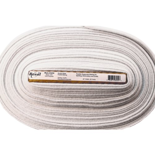 Bosal Double-Sided Fusible Batting, 45-Inch by 25-Yard, White by Bosal