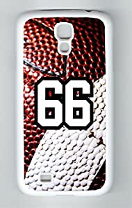 Football Sports Fan Player Number 66 White Rubber Decorative Samsung Galaxy S4 Case