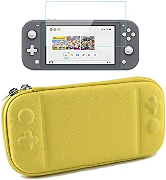 BluCos Maletín de Transporte para Nintendo Switch Lite 2019, Ultra Slim Portable Travel Storage Bag Hard Protective Shell Cover Box Ajuste Switch Lite Console con 10 Ranuras para Tarjetas de Juego: Amazon.es: