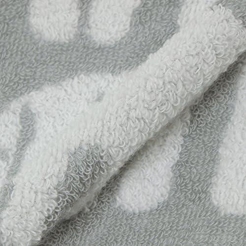 西川(Nishikawa) 今治タオル グレー ハンドタオル (ウォッシュタオル) フィンレイソン エレファンティ(ゾウ) 柄 日本製 TT38703622GR