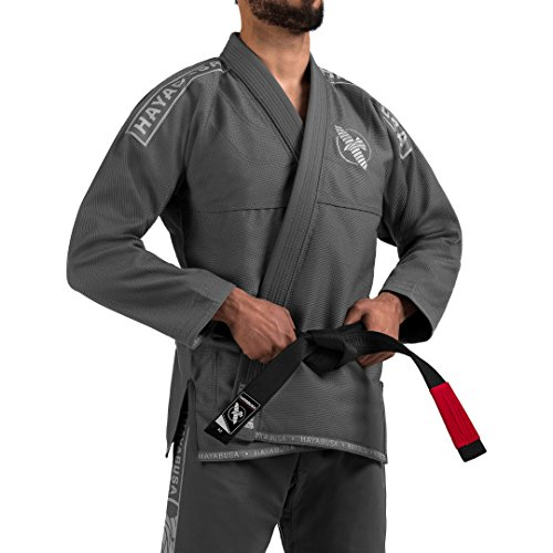 Hayabusa Pearl Weave Light Jiu Jitsu Gi (Grey, A3) (Best Bjj Gi Brands)