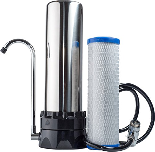 The Stainless Steel Countertop Water Purifier Filter (.5 Micron Carbon ()