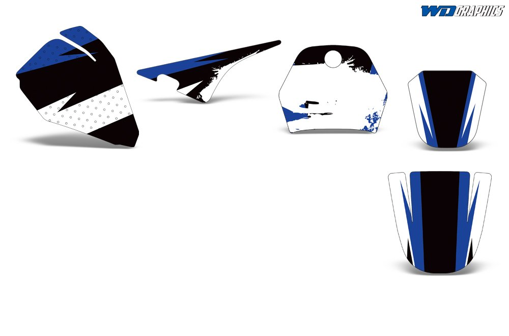 Wholesale Decals Yamaha PW 80 1996-2006 with Rim Trim and Number Plates Midnight Race Design