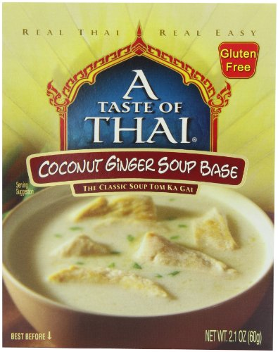 - A Taste of Thai Coconut Ginger Soup Base, 2.1-Ounce Packets (Pack of 12)