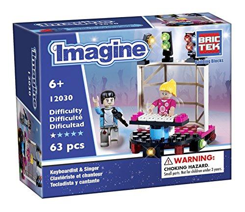 BRICTEK Children's Imagine Keybordist Interlocking Building Brick Toy