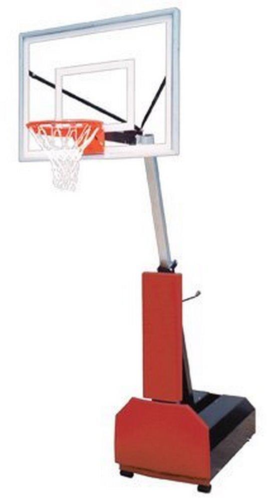 最初チームFury III steel-acrylicポータブルバスケットボールsystem44 ;ブラック B007LQKJSY