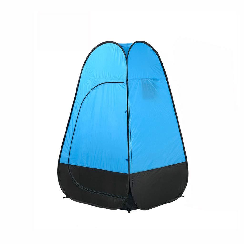 小さなテント、アウトドア更衣室/トイレ/バスルーム、防水防風性と耐紫外線、ビーチ/アウトドア/旅行/キャンプ/狩猟/釣りに最適(持ち運びが簡単)  blue B07PQKR63B
