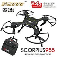 RC Quadcopter Mini Drone, ECLEAR RTF 4 Channel 2.4GHz 6-Axis Gyro Helicopter Toys For Adult Kids Aerial Photography Racing